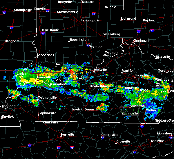Radar Image for Severe Thunderstorms near West Point, KY at 8/4/2015 7:18 PM EDT