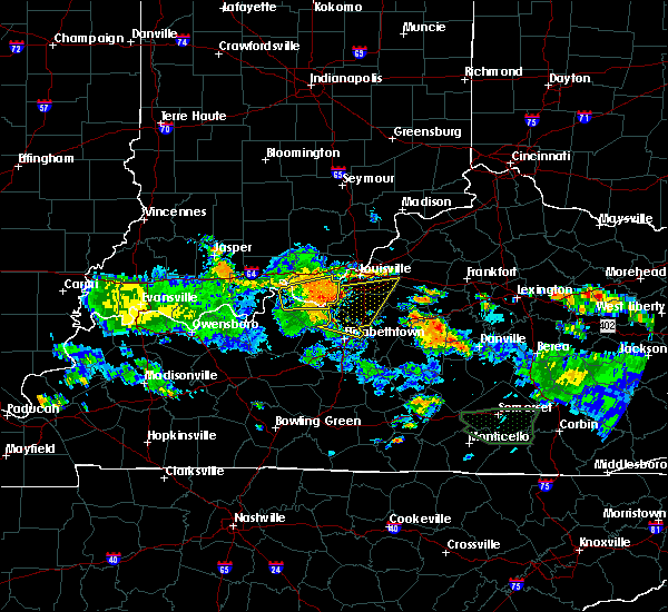 Radar Image for Severe Thunderstorms near West Point, KY at 8/4/2015 7:47 PM EDT