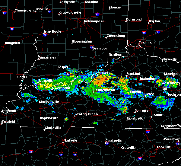 Radar Image for Severe Thunderstorms near Lawrenceburg, KY at 8/4/2015 8:22 PM EDT