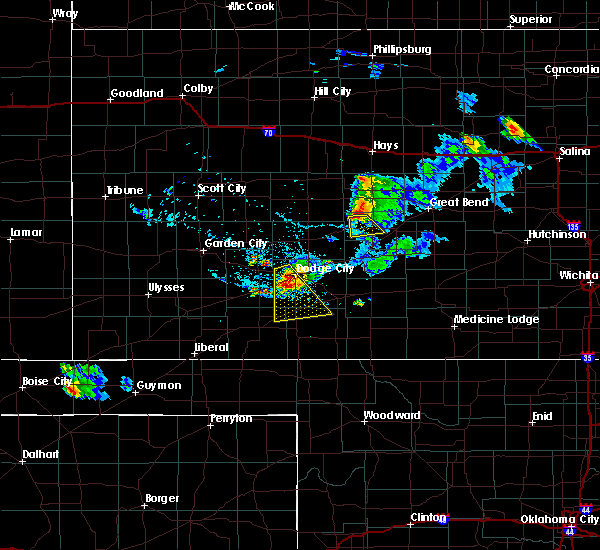 Radar Image for Severe Thunderstorms near Rozel, KS at 8/4/2015 8:46 PM CDT
