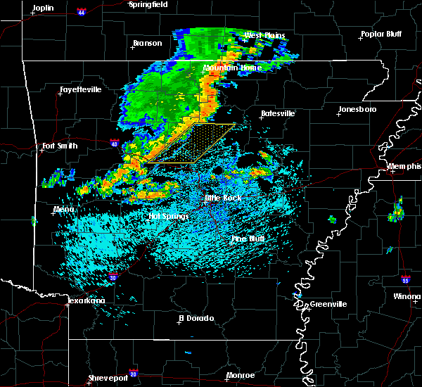 Radar Image for Severe Thunderstorms near Higden, AR at 8/5/2015 1:26 PM CDT