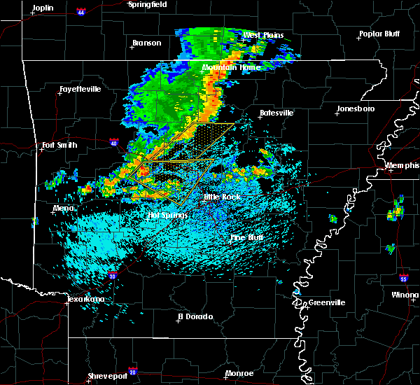 Radar Image for Severe Thunderstorms near Ola, AR at 8/5/2015 1:34 PM CDT
