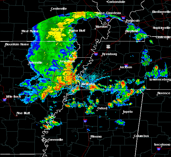 Radar Image for Severe Thunderstorms near Memphis, TN at 8/5/2015 4:08 PM CDT