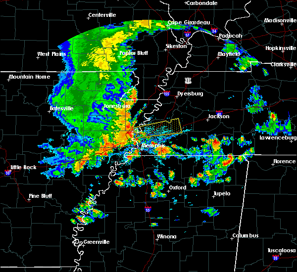 Radar Image for Severe Thunderstorms near Memphis, TN at 8/5/2015 4:44 PM CDT
