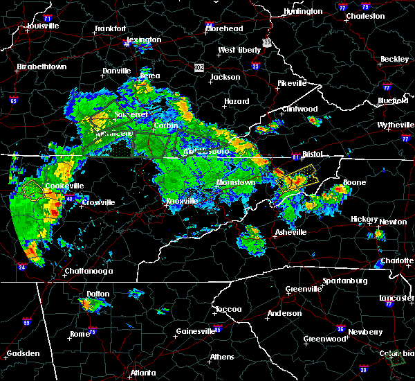 Radar Image for Severe Thunderstorms near Hunter, TN at 8/5/2015 6:01 PM EDT