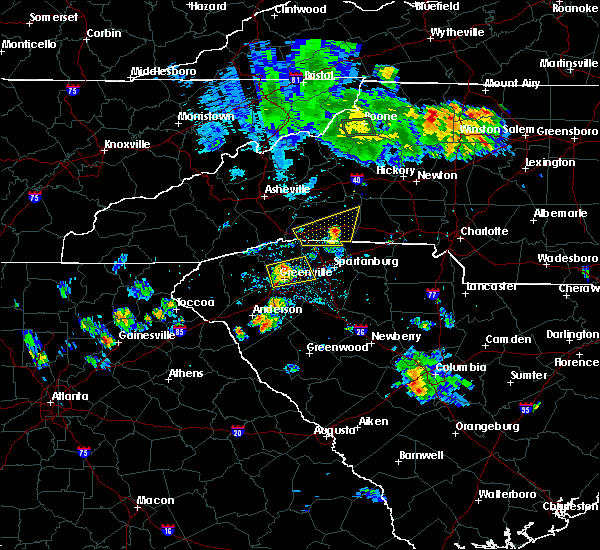 Radar Image for Severe Thunderstorms near Spindale, NC at 8/5/2015 8:02 PM EDT