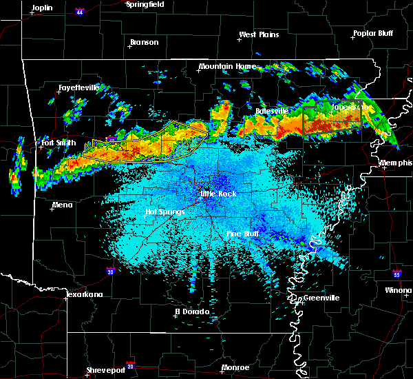 Radar Image for Severe Thunderstorms near Ola, AR at 8/5/2015 10:13 PM CDT