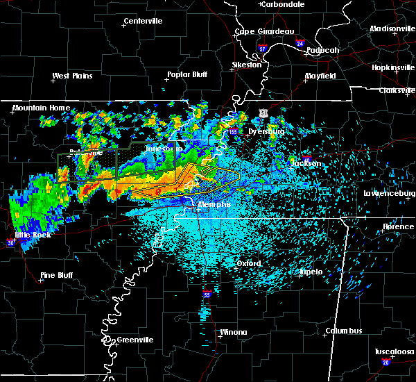 Radar Image for Severe Thunderstorms near Jericho, AR at 8/5/2015 11:00 PM CDT