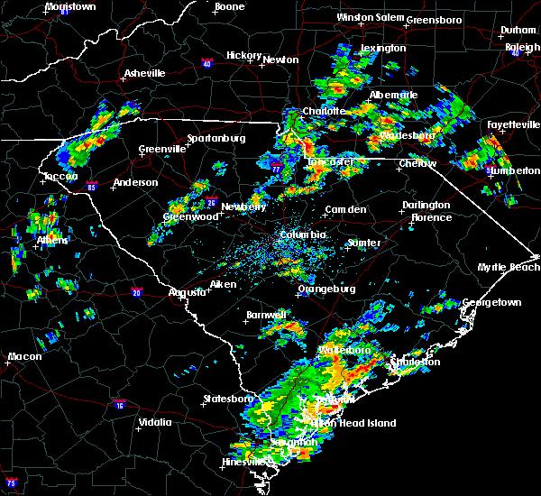 Radar Image for Severe Thunderstorms near Winnsboro, SC at 8/6/2015 2:30 PM EDT