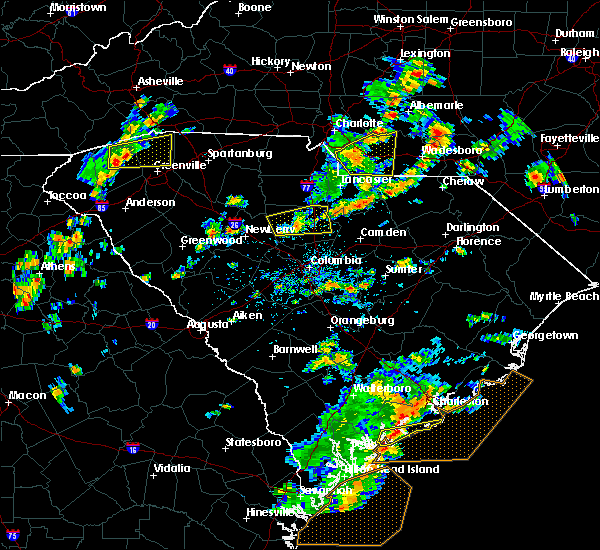 Radar Image for Severe Thunderstorms near Monroe, NC at 8/6/2015 2:48 PM EDT