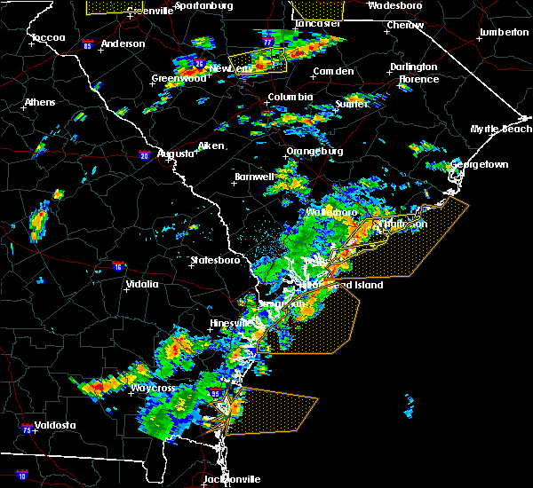 Radar Image for Severe Thunderstorms near North Charleston, SC at 8/6/2015 2:55 PM EDT