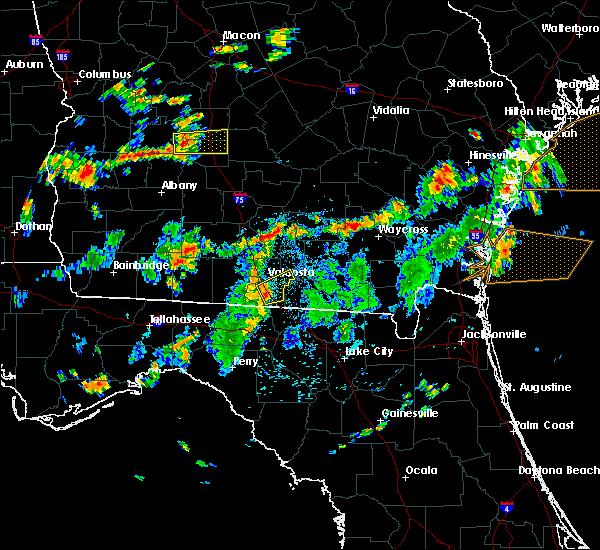 Radar Image for Severe Thunderstorms near Valdosta, GA at 8/6/2015 3:00 PM EDT