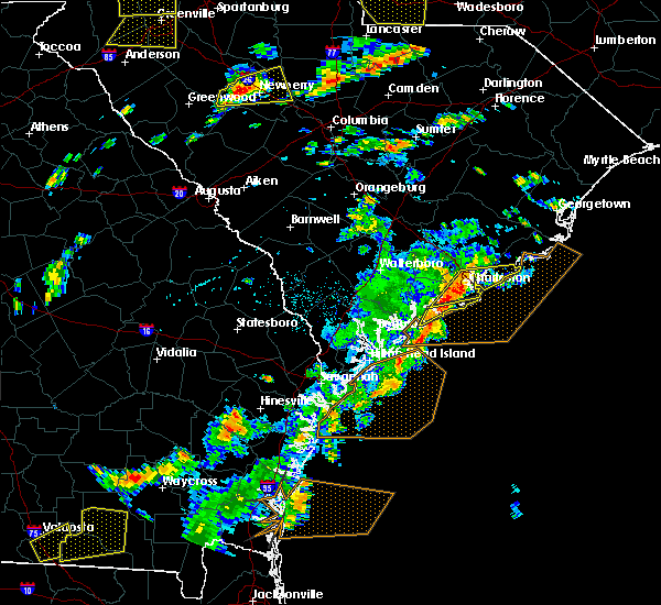 Radar Image for Severe Thunderstorms near Edisto Beach, SC at 8/6/2015 3:07 PM EDT