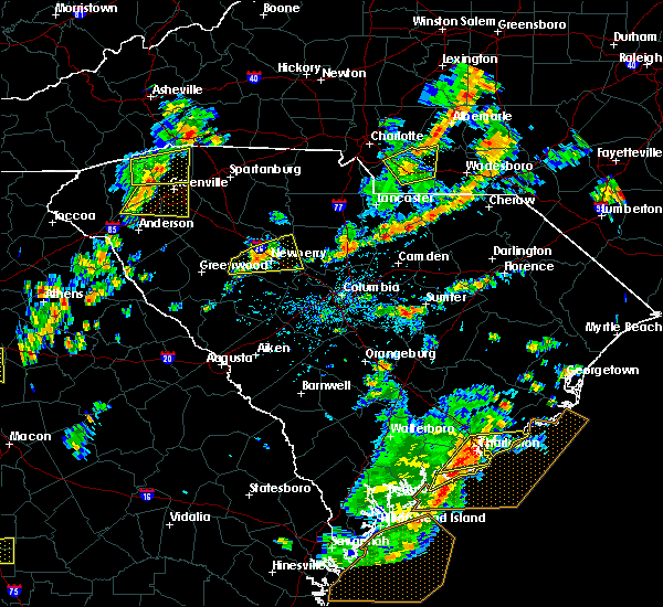 Radar Image for Severe Thunderstorms near Monroe, NC at 8/6/2015 3:09 PM EDT
