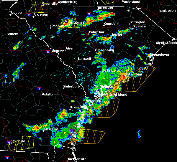 Radar Image for Severe Thunderstorms near North Charleston, SC at 8/6/2015 3:09 PM EDT