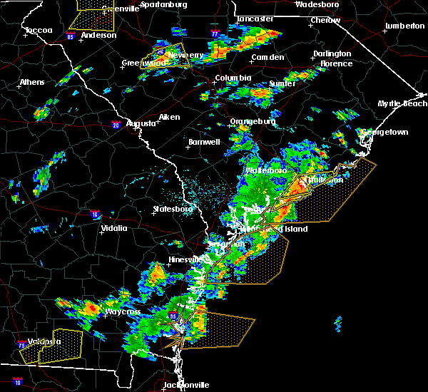 Radar Image for Severe Thunderstorms near North Charleston, SC at 8/6/2015 3:13 PM EDT