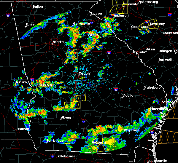 Radar Image for Severe Thunderstorms near Vienna, GA at 8/6/2015 3:19 PM EDT