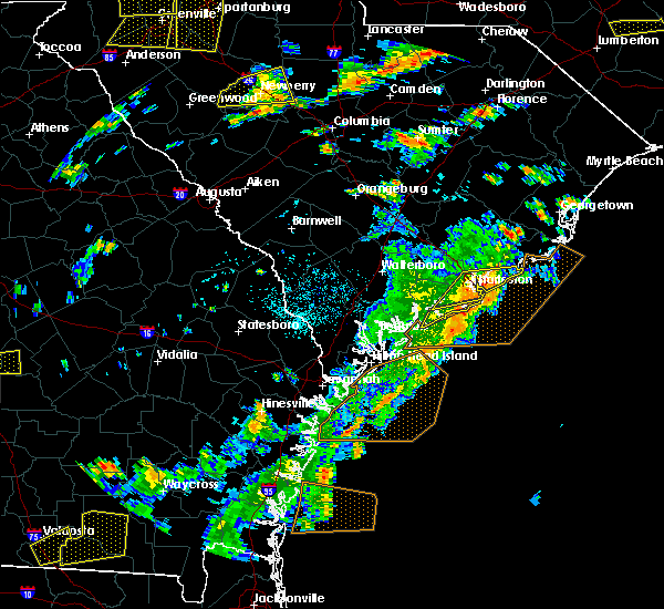 Radar Image for Severe Thunderstorms near North Charleston, SC at 8/6/2015 3:27 PM EDT