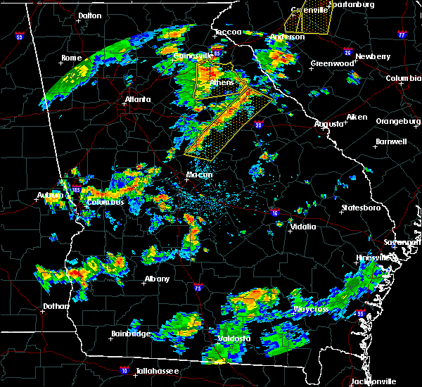Radar Image for Severe Thunderstorms near Tignall, GA at 8/6/2015 3:52 PM EDT