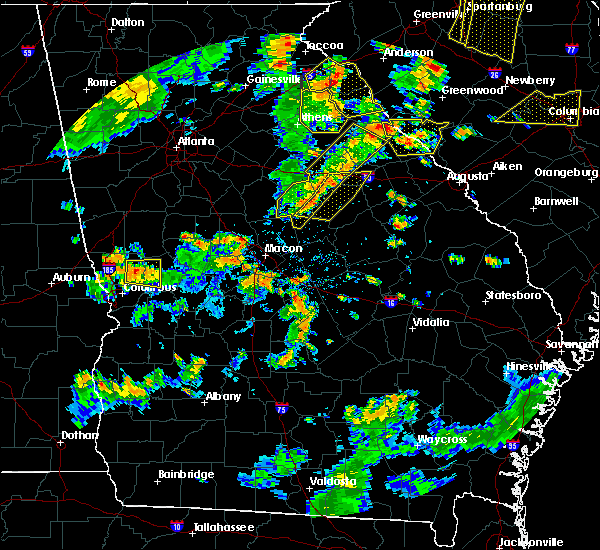 Radar Image for Severe Thunderstorms near Crawfordville, GA at 8/6/2015 4:20 PM EDT