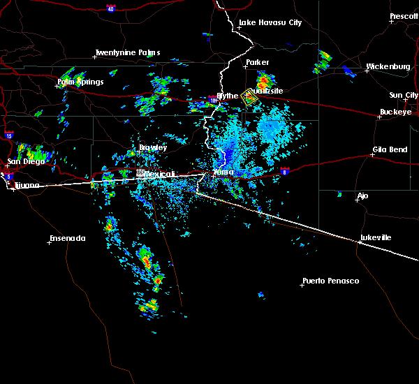 Radar Image for Severe Thunderstorms near Quartzsite, AZ at 8/6/2015 1:30 PM MST