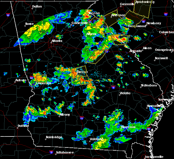 Radar Image for Severe Thunderstorms near Macon, GA at 8/6/2015 4:32 PM EDT