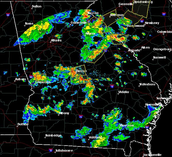 Radar Image for Severe Thunderstorms near Gray, GA at 8/6/2015 4:32 PM EDT
