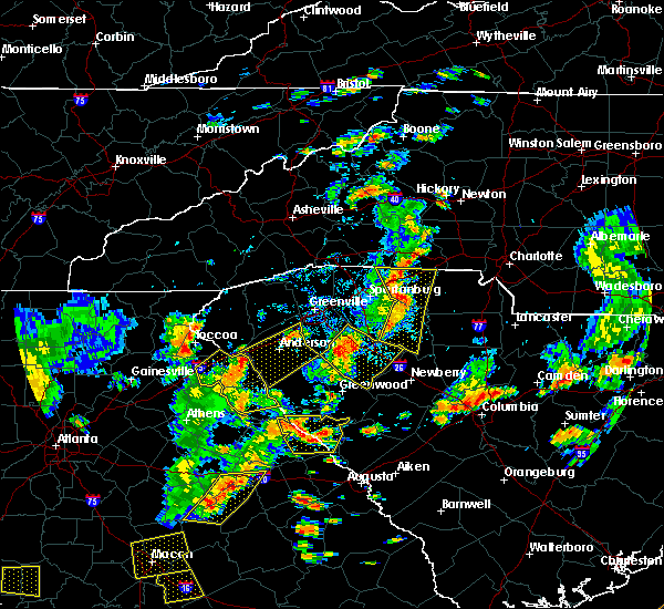 Radar Image for Severe Thunderstorms near Honea Path, SC at 8/6/2015 4:33 PM EDT