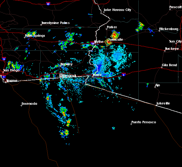 Radar Image for Severe Thunderstorms near Bouse, AZ at 8/6/2015 1:36 PM MST