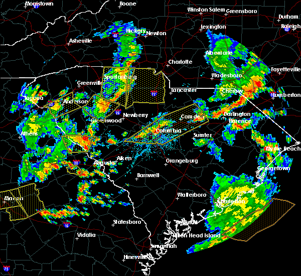 Radar Image for Severe Thunderstorms near Belvedere, SC at 8/6/2015 4:53 PM EDT