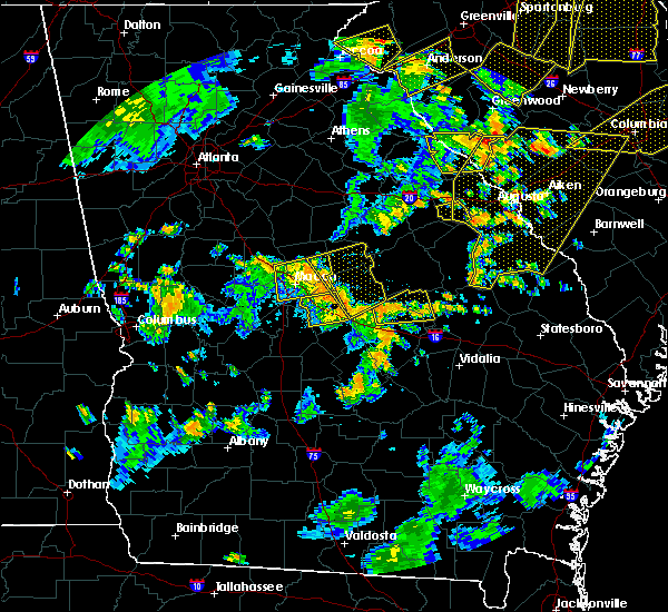 Radar Image for Severe Thunderstorms near Jeffersonville, GA at 8/6/2015 4:57 PM EDT