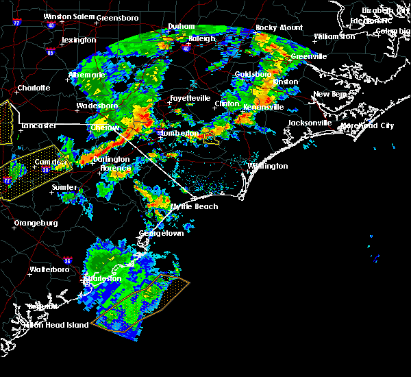 Radar Image for Severe Thunderstorms near Ivanhoe, NC at 8/6/2015 5:03 PM EDT