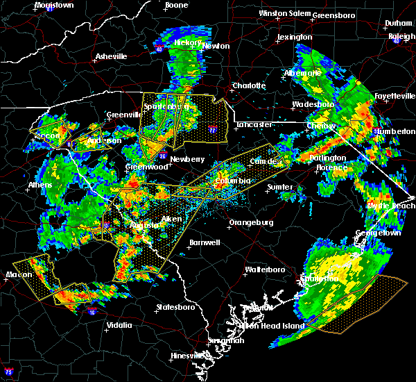 Radar Image for Severe Thunderstorms near Charlotte, NC at 8/6/2015 5:05 PM EDT