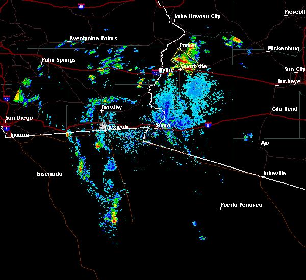 Radar Image for Severe Thunderstorms near Bouse, AZ at 8/6/2015 2:10 PM MST