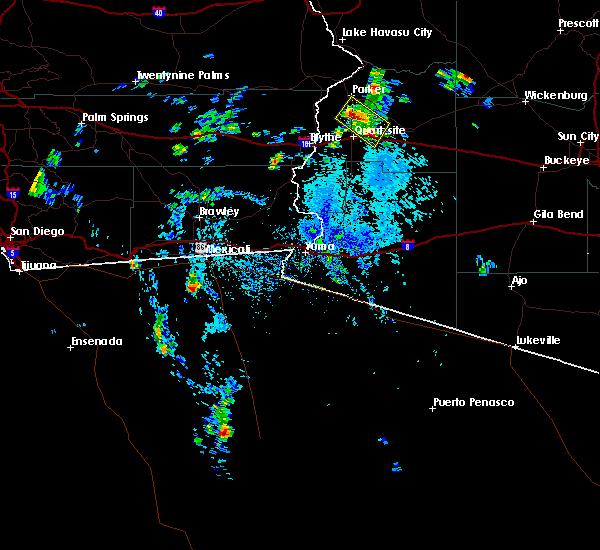 Radar Image for Severe Thunderstorms near Bouse, AZ at 8/6/2015 2:13 PM MST