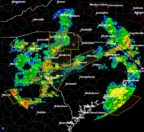 Radar Image for Severe Thunderstorms near Newberry, SC at 8/6/2015 5:15 PM EDT