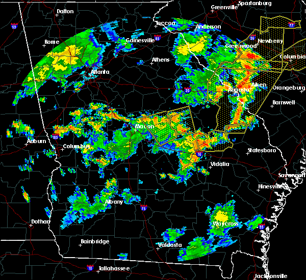 Radar Image for Severe Thunderstorms near Adrian, GA at 8/6/2015 5:30 PM EDT