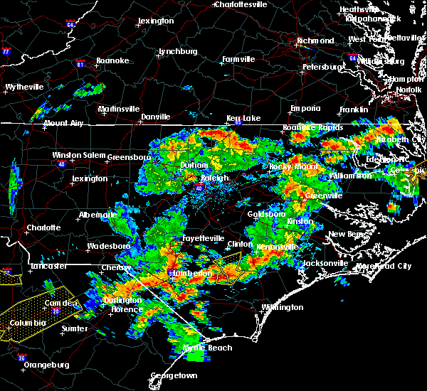 Radar Image for Severe Thunderstorms near Warrenton, NC at 8/6/2015 5:30 PM EDT