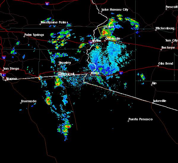 Radar Image for Severe Thunderstorms near Bouse, AZ at 8/6/2015 2:35 PM MST