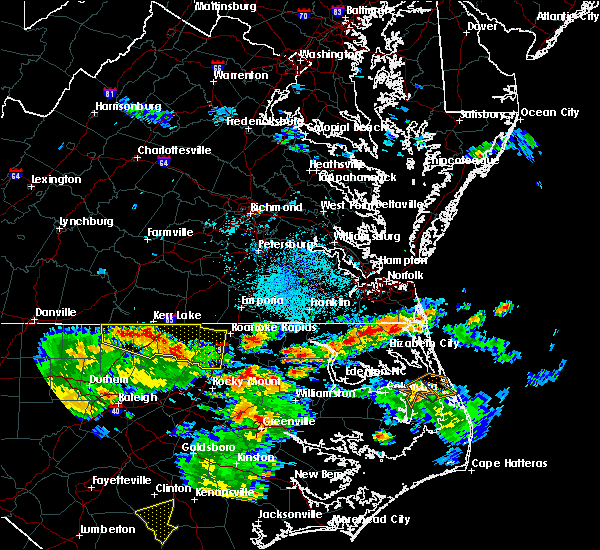 Radar Image for Severe Thunderstorms near South Mills, NC at 8/6/2015 5:34 PM EDT