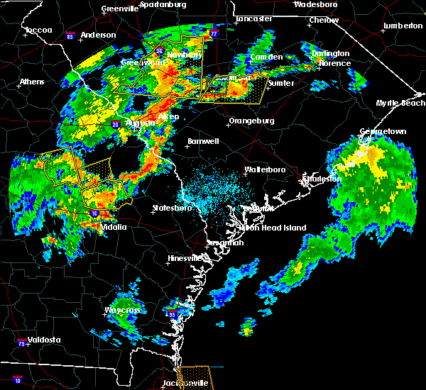 Radar Image for Severe Thunderstorms near Barnwell, SC at 8/6/2015 5:51 PM EDT