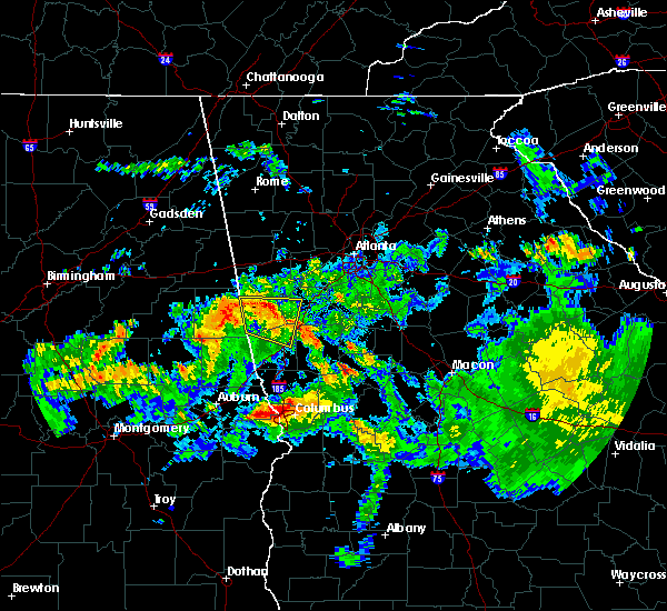 Radar Image for Severe Thunderstorms near LaGrange, GA at 8/6/2015 8:04 PM EDT