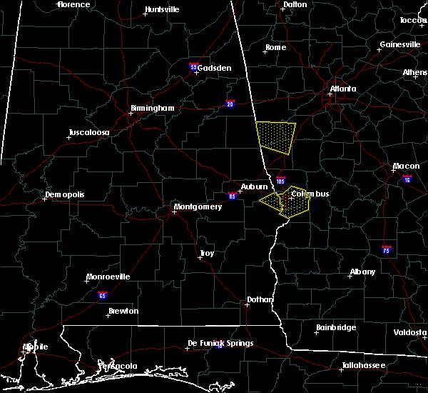 Radar Image for Severe Thunderstorms near Columbus, GA at 8/6/2015 8:10 PM EDT