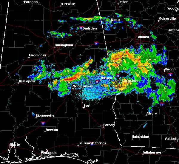 Radar Image for Severe Thunderstorms near Columbus, GA at 8/6/2015 7:38 PM CDT