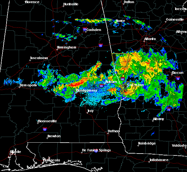 Radar Image for Severe Thunderstorms near Coosada, AL at 8/6/2015 7:44 PM CDT