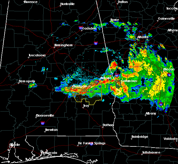 Radar Image for Severe Thunderstorms near Montgomery, AL at 8/6/2015 8:36 PM CDT