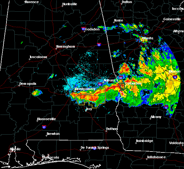 Radar Image for Severe Thunderstorms near Ladonia, AL at 8/6/2015 8:57 PM CDT
