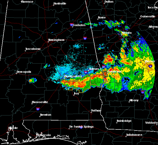 Radar Image for Severe Thunderstorms near Midway, AL at 8/6/2015 9:00 PM CDT