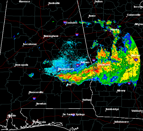 Radar Image for Severe Thunderstorms near Columbus, GA at 8/6/2015 9:12 PM CDT