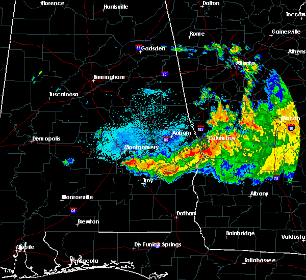 Radar Image for Severe Thunderstorms near Midway, AL at 8/6/2015 9:15 PM CDT
